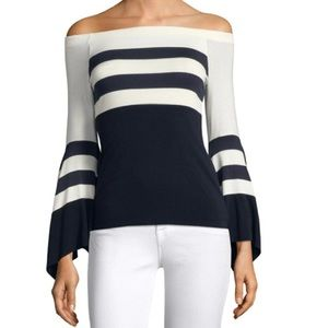 Bailey 44 Off The Shoulder Striped Top Small